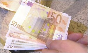 Genuine 50 euro notes