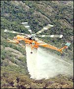 An Air-Crane helitanker in action