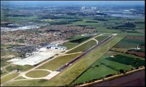 Liverpool Airport from the air