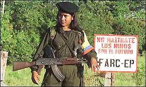 Female FARC guerrilla