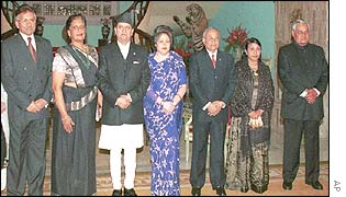 Leaders of the Saarc members before an inaugural dinner