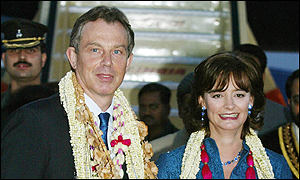 The Blair's arrive in India