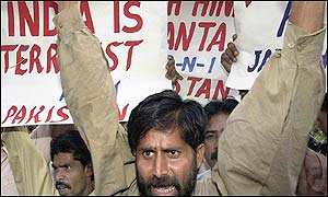 Anti-India protests in Karachi, Pakistan