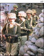 Pakistani troops at the line of control