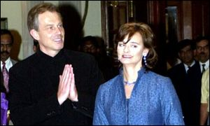 Tony and Cherie Blair in Bangalore