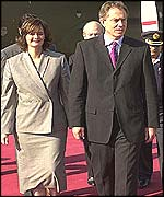 Tony Blair with wife Cherie in Pakistan