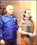 Terry Nichols (right) during his earlier trial