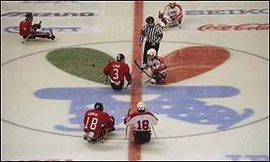 Canada and the United States faced each other in the ice hockey competition