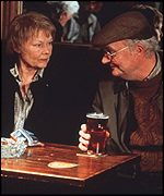 Judi Dench and Jim Broadbent play the old Iris and John