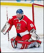 Hasek's goal-tending won it for the Czechs