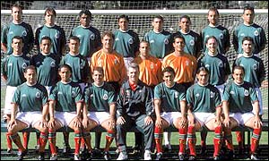 The Mexican squad in August 2001