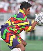 One of Jorge Campos' many colourful creations
