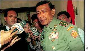 General Wiranto pictured in 1999