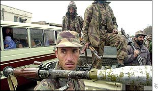 Northern Alliance fighter in Kabul
