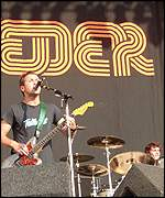 The band played the Reading Festival in 2001