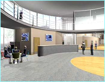 The entrance in future schools will look more like offices