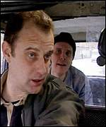 Phil Cornwell and Andrew Powell in the short film Black Cab
