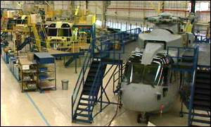 Westland production line