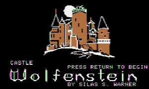 A screen shot from the original Wolfenstein computer game