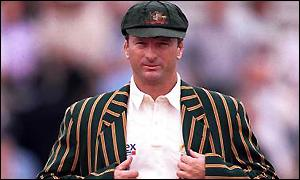 Steve Waugh in cap and blazer