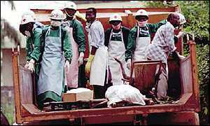 Medical workers during the 1995 outbreak of ebola