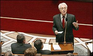 French Prime Minister Lionel Jospin during the debates