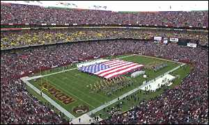 Washington Redskins ground (Allsport)