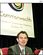 Blair at CHOGM in Durban in 1999