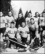 GB ice hockey team won gold in 1936