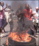 Riots in Zimbabwe in October 2000