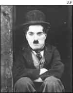A still image from Charlie Chaplin's movie