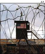 A US watch tower at Guantanamo Bay