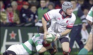 Action from Friday night's game between Ulster and Treviso at Ravenhill