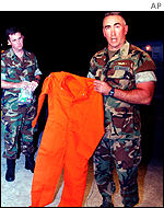 Orange US prison jumpsuit