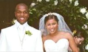 Quinton Fortune and his new wife Kim