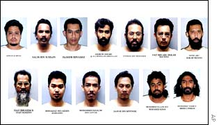The 13 suspected militants