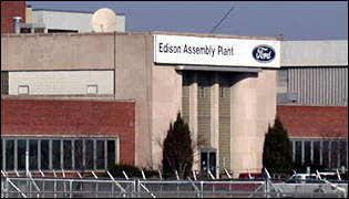 Ford plant in Edison New Jersey