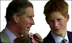 Prince Charles with Prince Harry