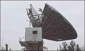 Television Afghanistan's damaged satellite