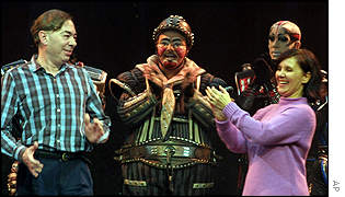 Andrew Lloyd Webber and the cast of Starlight Express