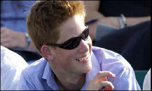 Prince Harry in 2001