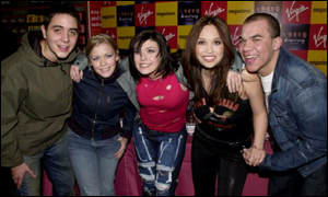 Hear'Say - (left to right) - Noel Sullivan, Suzanne Shaw, Kym Marsh, Myleene Klass and Danny Foster
