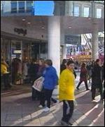 Shoppers in Cardiff