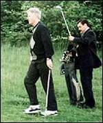 Former US President Clinton playing Golf