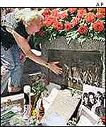 The Doors' Jim Morrison's grave in Paris