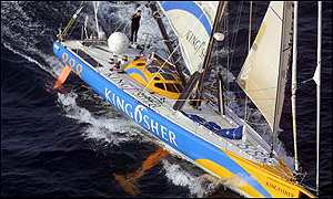 Ellen MacArthur was second in 2000-2001 Vendee Globe in Kingfisher