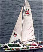 Peter Blake and Robin Knox-Johnston's catamaran ENZA