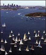 The start of the 2000 Sydney to Hobart yacht race