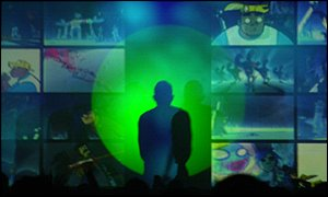 Live shows are a mix of silhouettes and projections