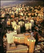 The centre of Bogota
